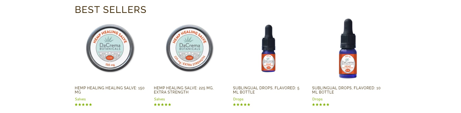 Dacrema Botanicals Website Photo
