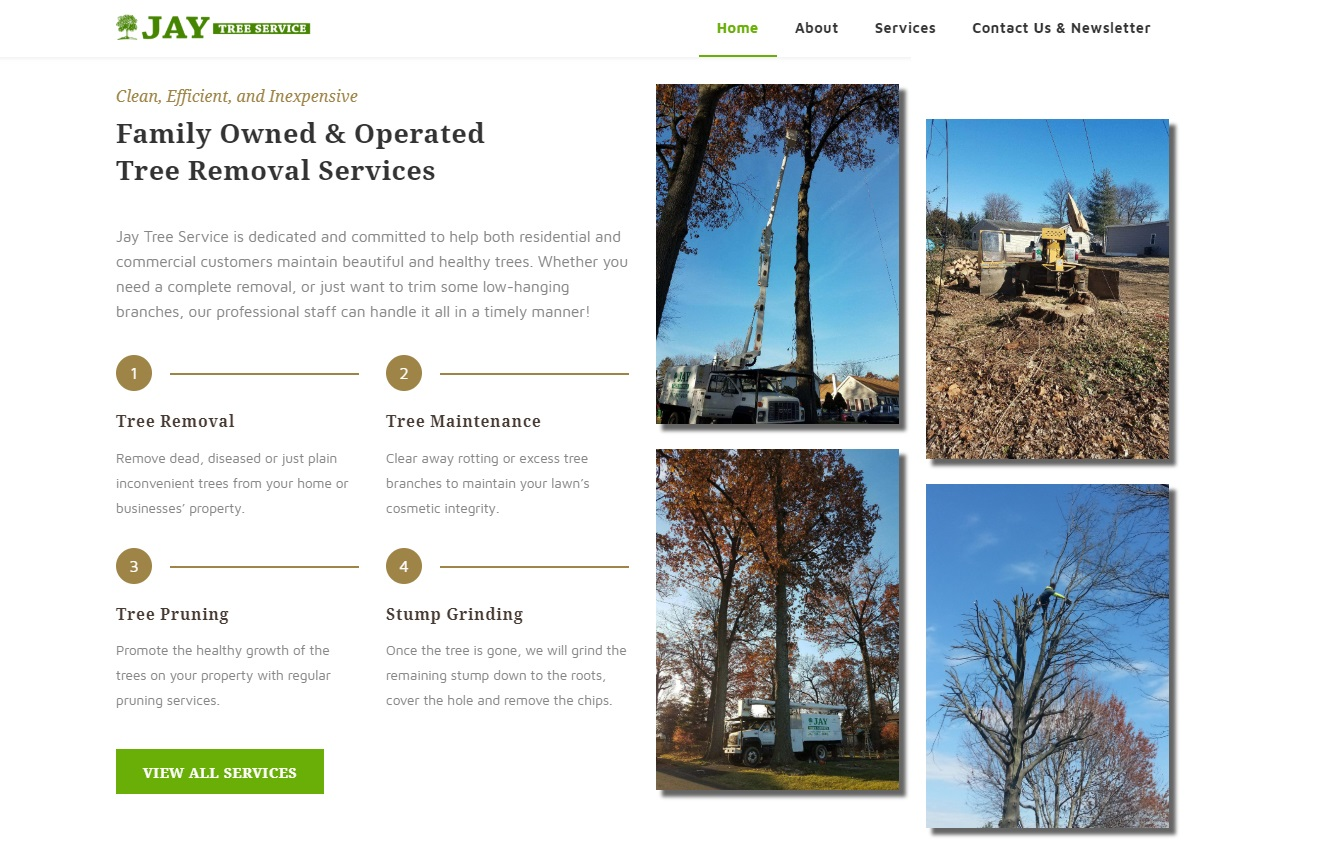 Jay Tree Service frontpage