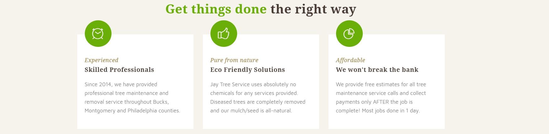 Jay Tree Service website photo
